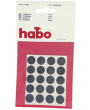 Habo peitekleeps, 13 mm, must