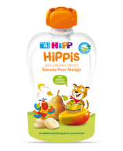 Hipp Hippis banaani-pirni-mangopüree 100 g, öko, alates 4-elu...