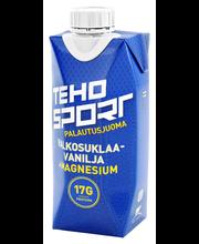 Teho Sport valge shokolaadi-vanilje-magneesiumi spordijook, 0,33 l