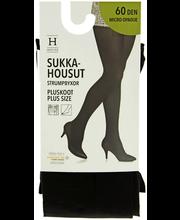 Naiste sukkpüksid Opaque Plus size 60 den must, 54-58