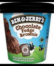 B&J šokolaadi jäätis küpsise tükkidega, 465 ml/408 g