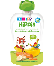 HiPP Hippis porgandipüree mango ja banaaniga BIO 4k