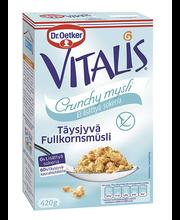 Crunchy täisteramüsli suhkruta 420 g