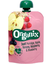 Organix õuna-banaani-vaarika-mustika puder 100 g, alates 6-el...