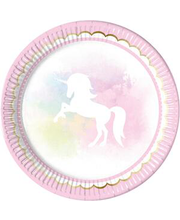 Papptaldrik Believe in Unicorns 23 cm 8 tk