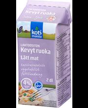 Laktoosivaba piimapõhine taimse rasva segu 4% rasva, 200 ml