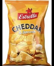 Estrella Cheddari- ja hapukooremaitselised kartulikrõpsud 275 g