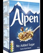 Alpen müsli ilma lisatud suhkruta 560 g