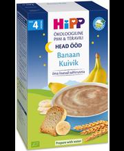 Hipp head ööd banaani-kuiviku piimapudrupulber 250 g, öko, alates 4-