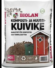Komposti- ja kuivkäimlaturvas Biolan 40 l