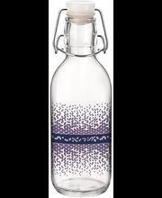Klaaspudel Emilia 0,5 l sinine