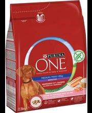 Purina One Medium/Maxi Sensitive täissööt koertele lõhe ja ri...