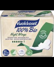 Vuokkoset Bio 100 slim night hügieeniside 9 tk
