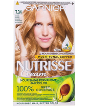 Juuksevärv Nutrisse 7.34 Light Natural Red