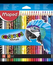 Värvipliiats Color'Peps Animal 24 tk