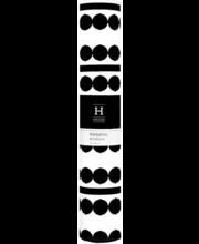 Linik Helmi Dots 33x120 cm, must/valge
