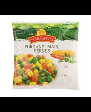 Porgand, mais, hernes, 400 g