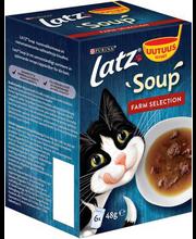 Latz Soup Farm Selection täiendsöödavalik kassidele, 6 x 48 g