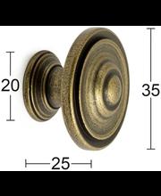 Habo Douglas mööblinupp, 35 mm, antiikne
