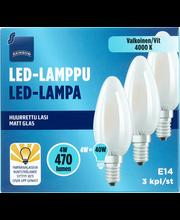LED-küünal E14 4W 4000K 470LM, 3 tk