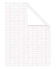 Raamatupaber 70x200cm valge kirjud südamed