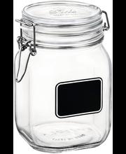 Klaaspurk Fido 1 l etiketiga