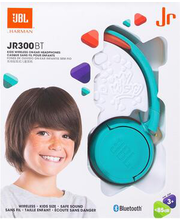 Laste kõrvaklapid JBL Junior 300 Bluetooth, juhtmevabad  sinine