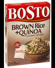 Bosto Pruun riis, quinoa, teravili 2x125 g