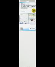 U-kujuline dušinurk kanduriga Dalobad, 90 × 90 cm, valge