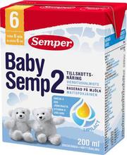 Baby Semp 2 jätkupiimajook 200 ml, alates  6-elukuust