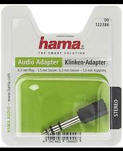 Audio adapter 3,5 mm pesa-6,3 mm otsik, stereo