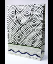 Kinkekott Mustjala kindamuster 25x10,5x35 cm