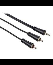 Audiokaabel 3,5 mm otsik-2 x RCA otsik 0,75 m