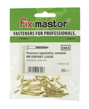 Fixmaster puidukruvi, peitpea, 3,5 x 30 mm, 30 tk