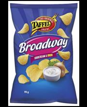 Taffel Broadway kartulikrõpsud hapukoore-sibulamaitselised 75 g
