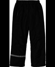 Laste vateeritud püksid mustad, 158 cm