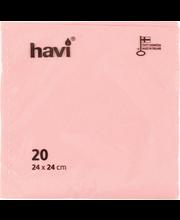 Salvrätik 24cm 20tk roosa