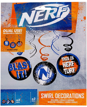 Spiraalkaunistused NERF, 6 tk