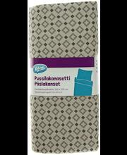 Voodipesukomplekt Exotic 150x210/55x65 cm hall 100% puuvill
