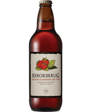 Rekordelig Strawberry-Lime siider 4,5% 500 ml
