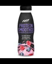 Proteiinismuuti vaarika-mustika, 330 ml