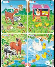 Raampuzzle Erinevad loomad