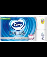 Zewa Tualettpaber Deluxe 8 rulli (3-kihiline, Pure White)