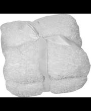 Pleed Fluffy 150 x 200 cm,  valge,  100% polüester