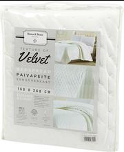 Päevatekk Velvet 160x260 cm, valge