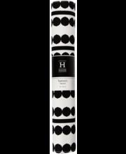 Lauamatt Helmi dots 33x45 cm, must/valge