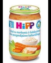 Hipp riisi-porgandipüree kalkunilihaga 220 g, bio, alates 8-e...
