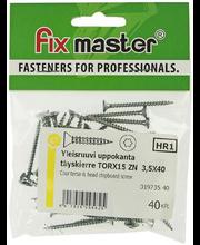 Fixmaster universaalkruvi, peitpea, TX15 ZN, 3,5 x 40 mm, 40 tk