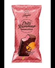 Eriti Rammus metsmaasika koorejäätis vahvlitükkidega šokolaadiglasuuris,85g/140ml