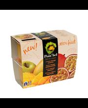 Pombel õuna-mango-passioni puuviljamiks, 4x100 g
